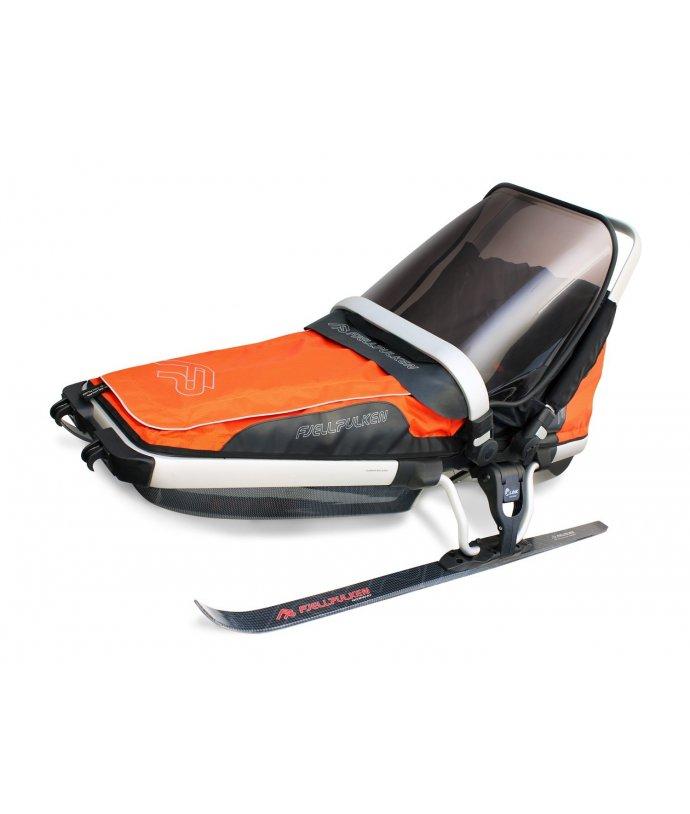 Dětské saně pro tažení na lyžích