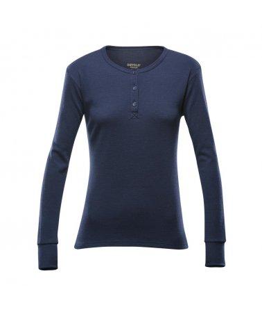 DEVOLD® NATURE WOMAN button shirt, triko sdlouhým rukávem, dámské