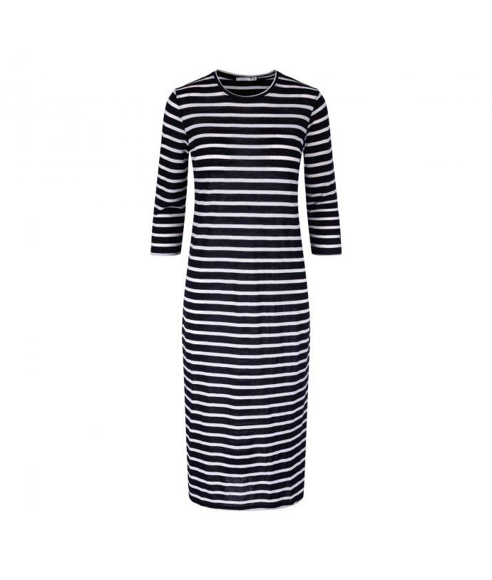 Dámské dlouhé pruhované šaty Seil Tea Dress We Norwegians
