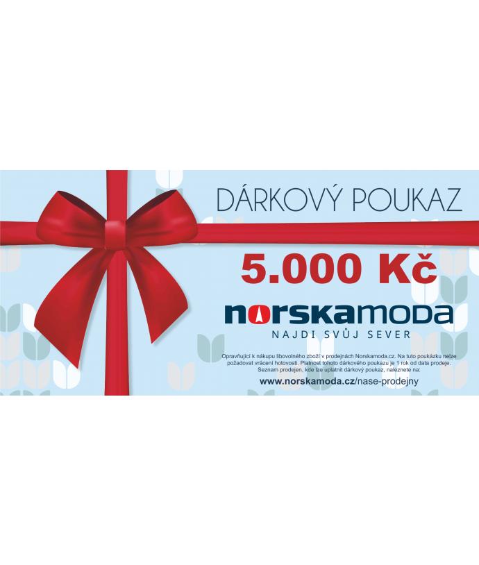 Elektronický dárkový poukaz 5000kč