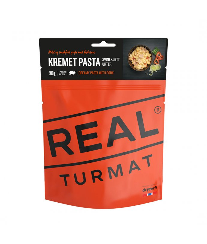 Real Turmat- Krémové těstoviny s vepřovým