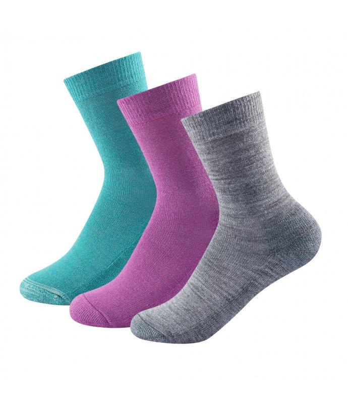 Dětské středně silné vlněné ponožky Devold Daily Medium