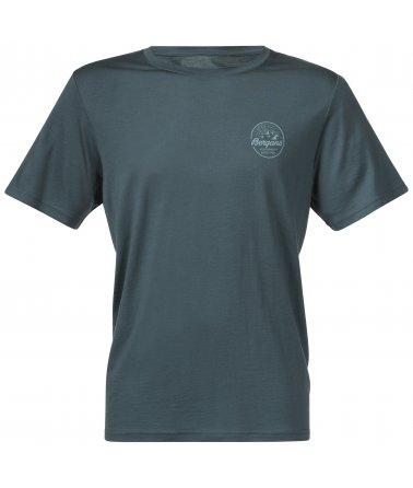 Pánské vlněné tričko Bergans Graphic Wool Tee