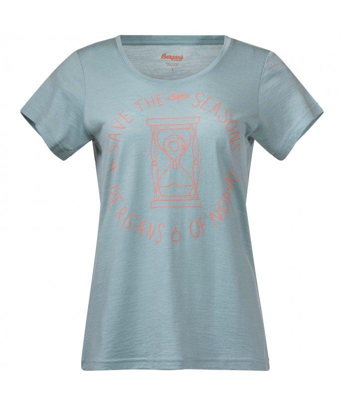 Dámské vlněné tričko Bergans Graphic Wool W Tee