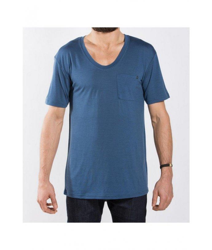 Pánské tričko BaseOne Mens V-Neck Tee