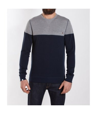 Pánské vlněné triko Base Two ColorBlock Crew Neck Men We Norwegians