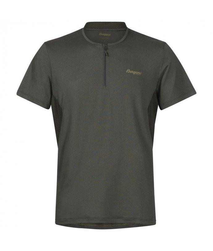 Fløyen Half Zip SS, pánské lehké triko s krátkým zipem