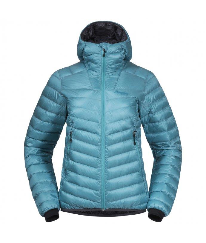Lehká dámská péřová bunda s kapucí Senja Down Light W Jkt w/Hood