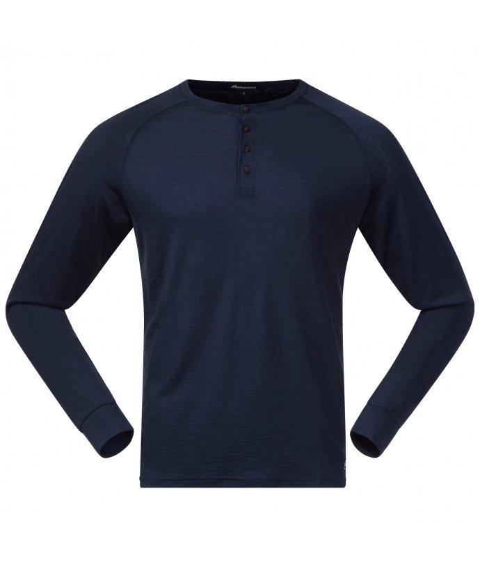 Pánské Merino triko s dlouhým rukávem Bergans Lysebu Wool Henley