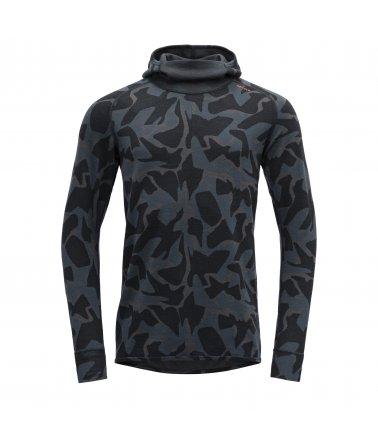 Oboustranné vlněné triko s kapucí Devold Kubbane