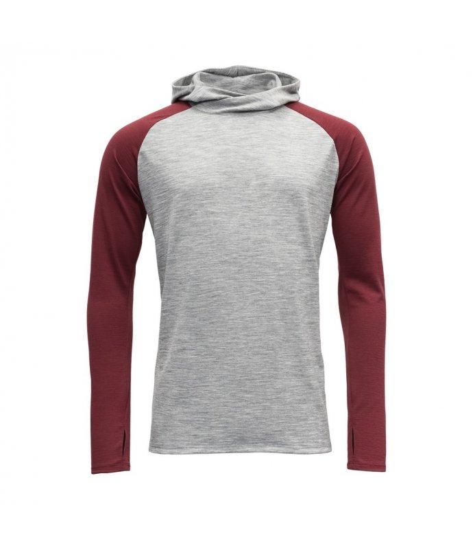 Vlněné triko s dlouhým rukávem a kapucí Devold Patchell