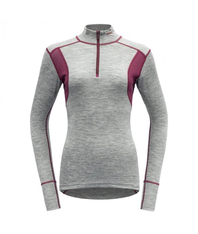 Dámské sportovní lehké vlněné tričko se stojáčkem Devold Hiking
