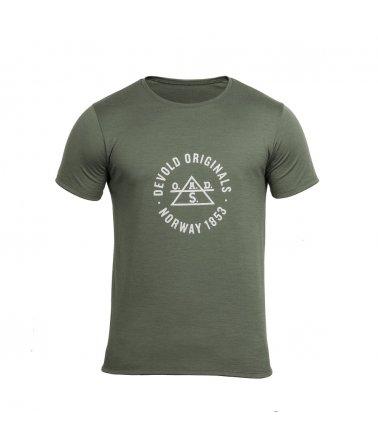 Lehké vlněné tričko s krátkým rukávem Devold pro volný styl