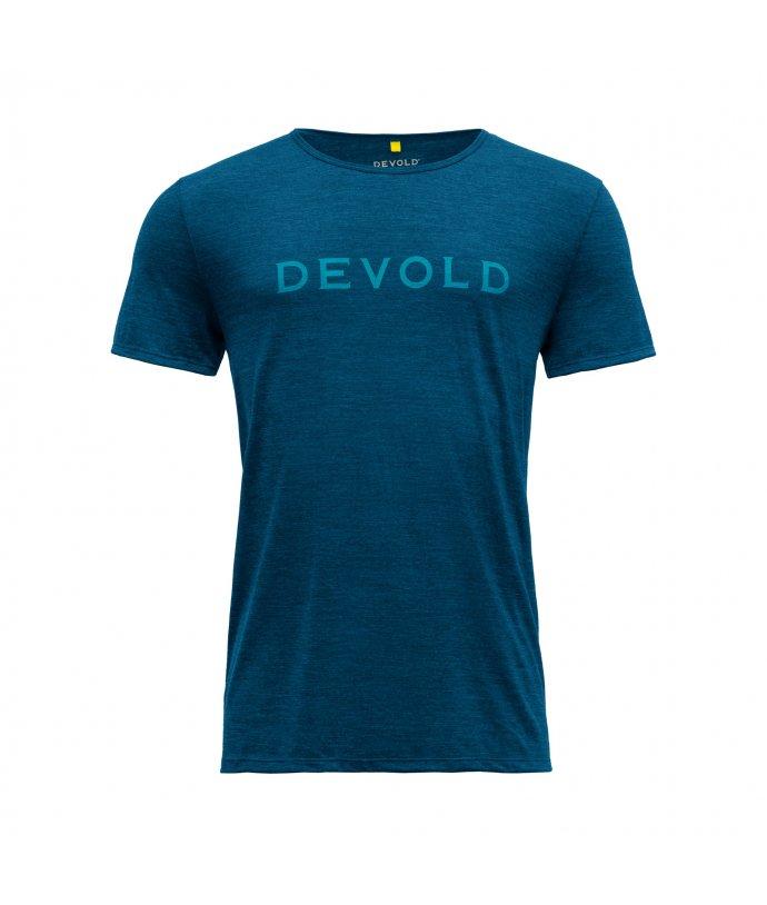 Pánské sportovní lehké vlněné tričko s krátkým rukávem Devold Langevag