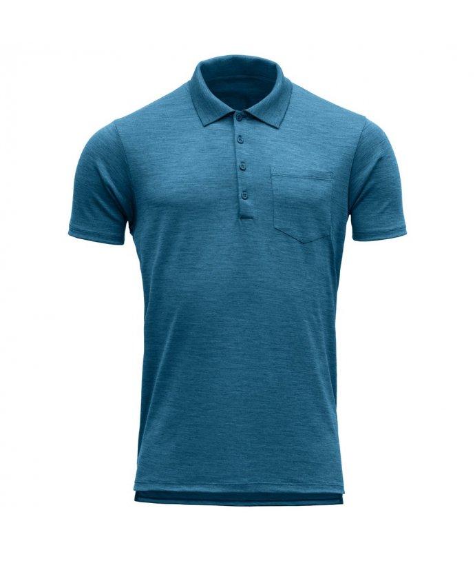 Vlněné tričko s knoflíčky a krátkým rukávem Grip Pique