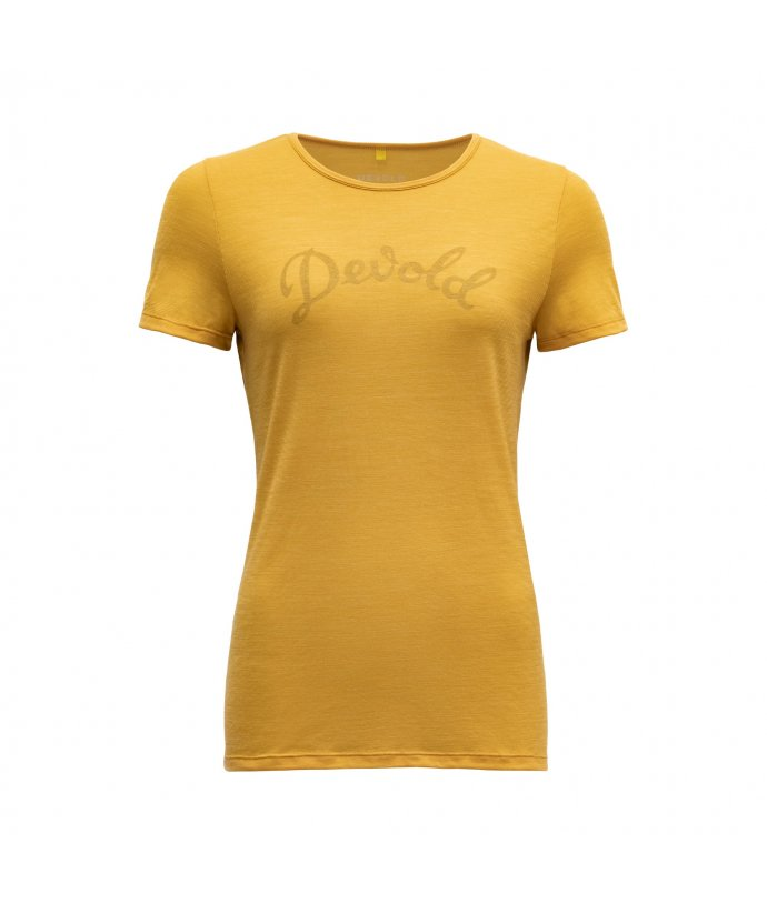 Dámské vlněné tričko s krátkým rukávem