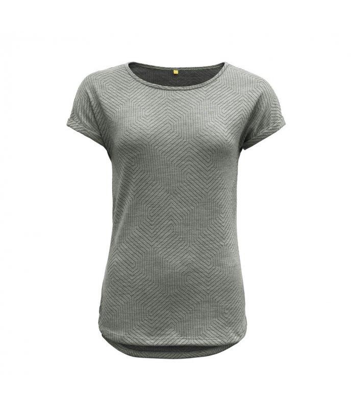 Dámské vlněné tričko s krátkým rukávem Devold Trollstigen