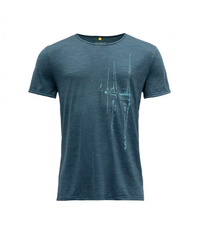 Pánské vlněné tričko s krátkým rukávem Devold Langfjorden