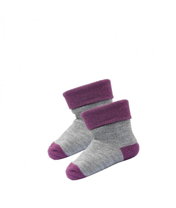 Dětské hladké tenoučké vlněné ponožky Devold Teddy