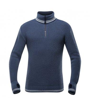 Pánský teplý vlněný svetr se zipem Devold Randers