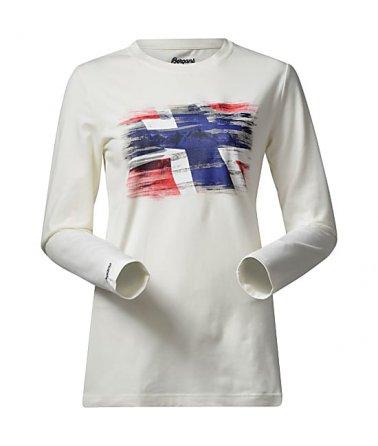 Triko s dlouhým rukávem s potiskem norské vlajky