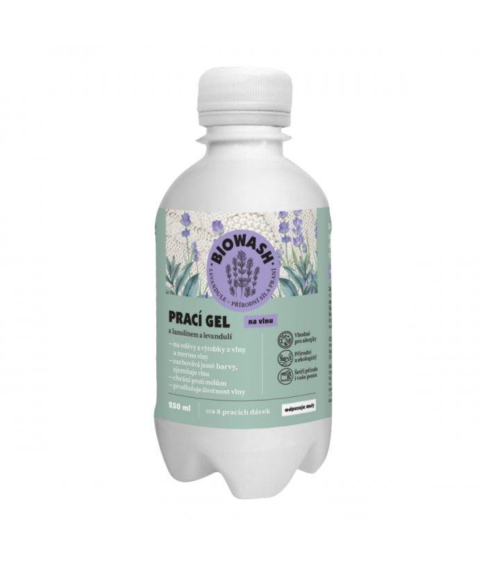 Prací gel na vlnu s levandulí a lanolínem
