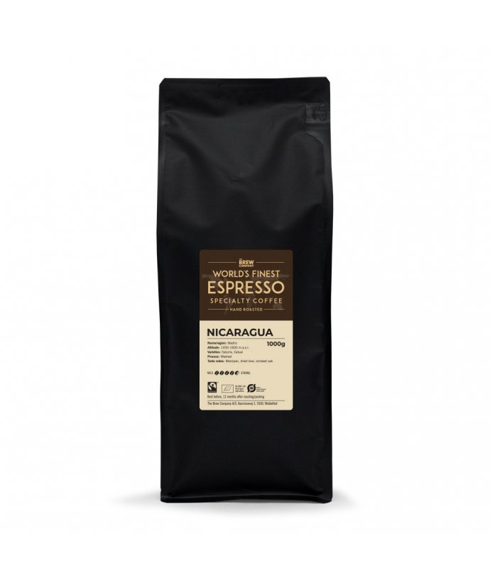 Jednodruhová zrnková káva Grower´s cup Nikaragua 1000g., Fairtrade & Organic